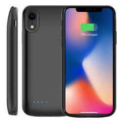 6000mAh For iPhone XR Smart Power Bank Back Magnet Battery Case Charging Cover $13.99