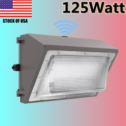 125W LED Wall Pack Dusk to Down Security Light Outdoor Commercial Lighting IP65
