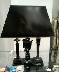 NEW VERSACE BLACK MEDUSA THREE STAND TABLE LAMP SHADE ** Extremely RARE ** AG $5999.85
