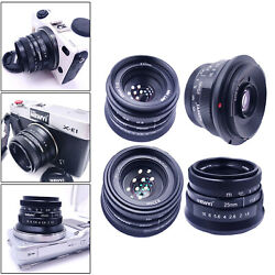 25mm f 1.8 Manual Focus Prime Lens Micro Cameras Wide Angle Lens Outdoor $44.56