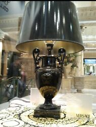 NEW VERSACE BLACK MEDUSA TABLE LAMP SHADE ** Extremely RARE ** THE ONLY 1 * AG $6699.85