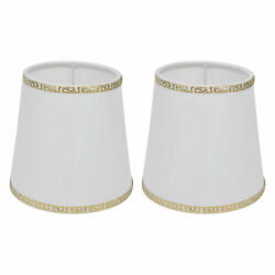 2Pcs E14 White Table Lamp Shade Modern Fabric Lampshades For Home Hotel Studi US $22.71