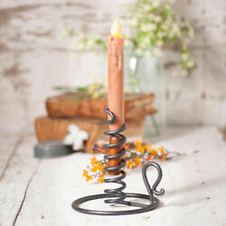 Primitive Country Black Courting Candle Stand for Taper Candle $15.00
