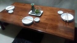 Chabudai Dining Table Floor Table Japanese Table Choice of 3 finish colors $339.00