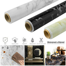 2M Marble Contact Paper Self Adhesive Peel Stick Wallpaper Kitchen Countertop $18.89