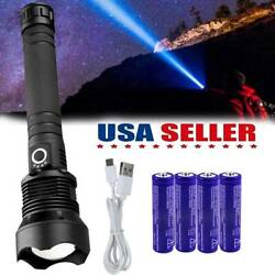 350000 Lumens XHP70 LED flashlight Rechargeable USB Zoomable Torch Lamp BTY $22.39