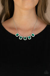 Paparazzi Necklace Next Level Luster Green $6.00