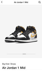 Size 6Y Jordan 1 Mid Gold 2021 Brand New With Box $160.00