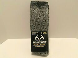 Realtree Dry Knit Thermal 2 Pair Heavyweight Gray X Large Socks BRAND NEW $14.99