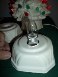Holland Ceramic Xmas Tree Lite Base Cord Fits 80s Vtg Trees Replacement Base $24.99