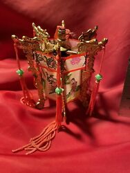 Chinese Lantern Vintage Decoration Gift Party Favor Gold Color $3.50