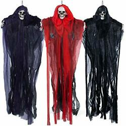 """3 Pack Halloween Hanging Grim Reapers 27.6"""" Scary Clown Halloween Decorations $24.73"""