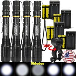 Tactical Flashlight Rechargeable 350000Lumens 5Mode LED 186*50 Zoom Torch $15.80