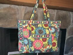 """VERA BRADLEY X LARGE GET CARRIED AWAY FLOWER SHOWER TOTE 14quot;H x 23quot;W x 7.5""""D $80.00"""