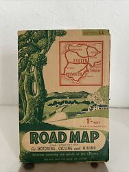Road Map for Motoring Cycling and hiking for Exeter Plymouth and Torquay 1952 GBP 4.00