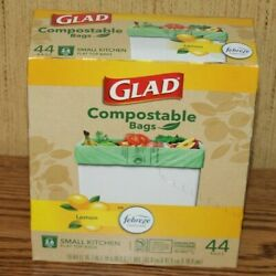 Glad 2.6 Gallon Small Kitchen Flat Top Compostable Bags 44 Bags $19.99