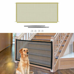 Stairs Pet Gates Pet Isolation Mesh Doorways Safety Fence to Play and Rest $11.74