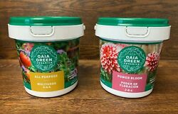 GAIA GREEN Power Bloom 2 8 4 amp; All Purpose 4 4 4 Fertilizers in 2Kg Jugs from TX $54.95