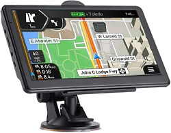 7 Inch Car Gps Navigation Touch Screen With Maps Spoken Direction 2021 $94.95