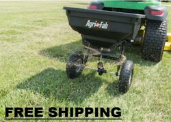 85 Lb Behind Broadcast Spreader Tow Hopper Fertilizer Seed Atv Lawn Tractor Pull $90.70