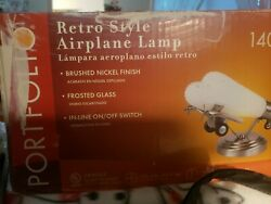 Portfolio Retro style Airplane Lamp Brushed Nickel Frosted Glass Item #140541 $99.00