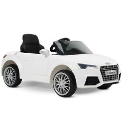 Audi Electric Battery Powered Ride On Car 12V for Kids White Sound Activated $149.99