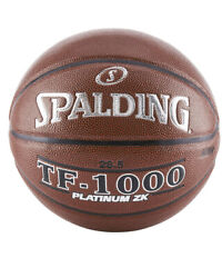 """New Spalding TF 1000 Platinum ZK Indoor Game Basketball Size 28.5"""" Leather $44.99"""