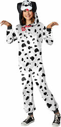 Party Animal Dalmatian Dog Child Girls Hooded Jumpsuit Costume NEW $26.05