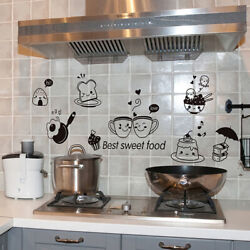 Fridge Coffee Stickers Removable Wall Stickers Room Wall Kitchen Sticke HL C $2.84