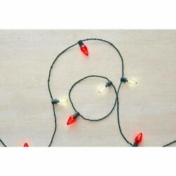 Home Accents Holiday 25 ft. 25 Light LED Red amp; White C9 Super Bright $17.99