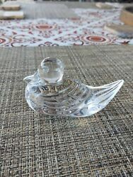 SIGNED WATERFORD CRYSTAL DUCK PAPERWEIGHT $22.00