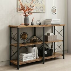 3 Tier Modern Entryway Table Console Table with Storage Shelf for Living Room $128.99