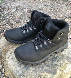 TIMBERLAND Rangeley Mid Hiker Leather Black Hiking Boots 9811R Men Size 10.5 $49.99