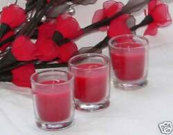 12 Wedding Romantic Party Table Room Votive Party Red Wax Glass Holders Candle AU $11.95