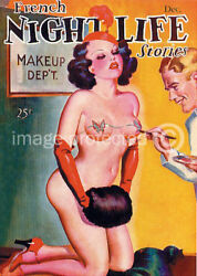 Vintage Sexy Pin Up Girl Poster French Nightlife Cover