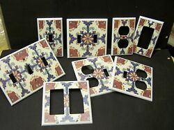 MEXICAN TALAVERA TILE #26 IMAGE LIGHT SWITCH COVER PLATE PLASTIC $6.19