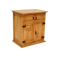 Rustic Mansion Night Stand Western Solid Wood Storage Space Cabin Lodge