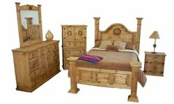 Big Sky Bedroom Set Rustic King Queen Western Real Solid Wood Lodge Cabin