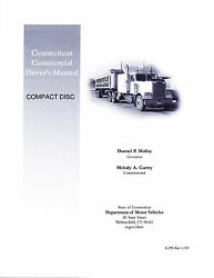 COMMERCIAL DRIVER'S MANUAL FOR CDL TRAINING (CONNECTICUT) ON CD IN PDF PROGRAM. $12.95