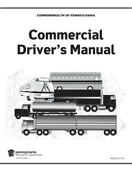 COMMERCIAL DRIVER MANUAL FOR CDL TRAINING (PENNSYLVANIA) ON CD IN PDF PROGRAM. $12.95