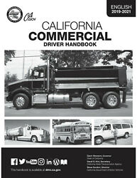COMMERCIAL DRIVER'S MANUAL FOR CDL TRAINING (CALIFORNIA) ON CD IN PDF PROGRAM. $12.95