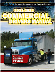 COMMERCIAL DRIVER'S MANUAL FOR CDL TRAINING (GEORGIA) ON CD IN PDF PROGRAM. $12.95