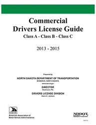 COMMERCIAL DRIVER MANUAL FOR CDL TRAINING (NORTH DAKOTA) ON CD IN PDF PROGRAM. $12.95