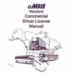 COMMERCIAL DRIVER MANUAL FOR CDL TRAINING (MARYLAND) ON CD IN PDF PROGRAM. $12.95