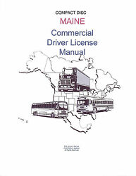 COMMERCIAL DRIVER MANUAL FOR CDL TRAINING (MAINE) ON CD IN PDF PROGRAM. $12.95