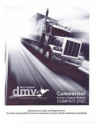 COMMERCIAL DRIVER MANUAL FOR CDL TRAINING (WEST VIRGINIA) ON CD IN PDF PROGRAM. $12.95