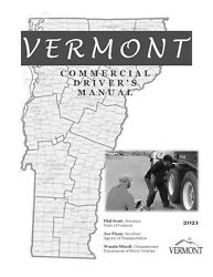 COMMERCIAL DRIVER'S MANUAL FOR CDL TRAINING (VERMONT) ON CD IN PDF PROGRAM $12.95