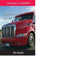COMMERCIAL DRIVER'S MANUAL FOR CDL TRAINING (WASHINGTON) ON CD IN PDF PROGRAM. $12.95