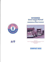 COMMERCIAL DRIVER MANUAL FOR CDL TRAINING (WYOMING) ON CD IN PDF PROGRAM. $12.95