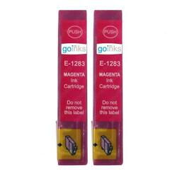 2 Magenta Ink Cartridges non-OEM to replace T1283 Fox Compatible for Printers $6.45